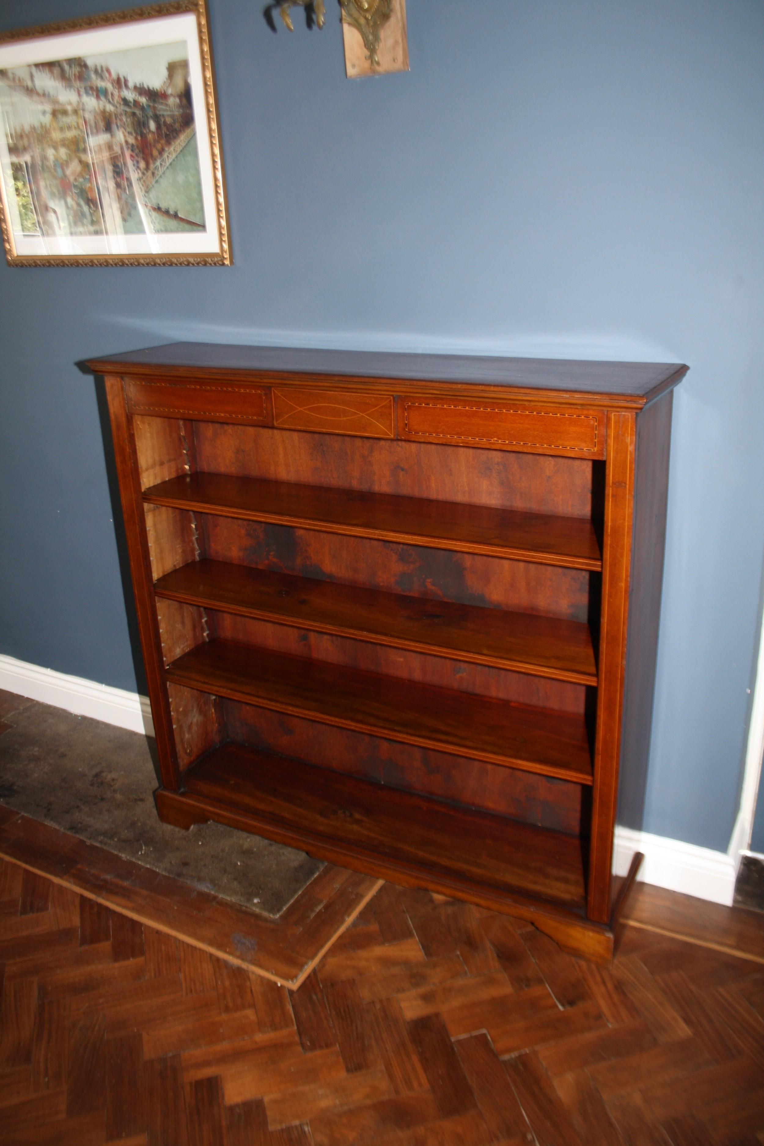 late 19th century bookcase in mahogany