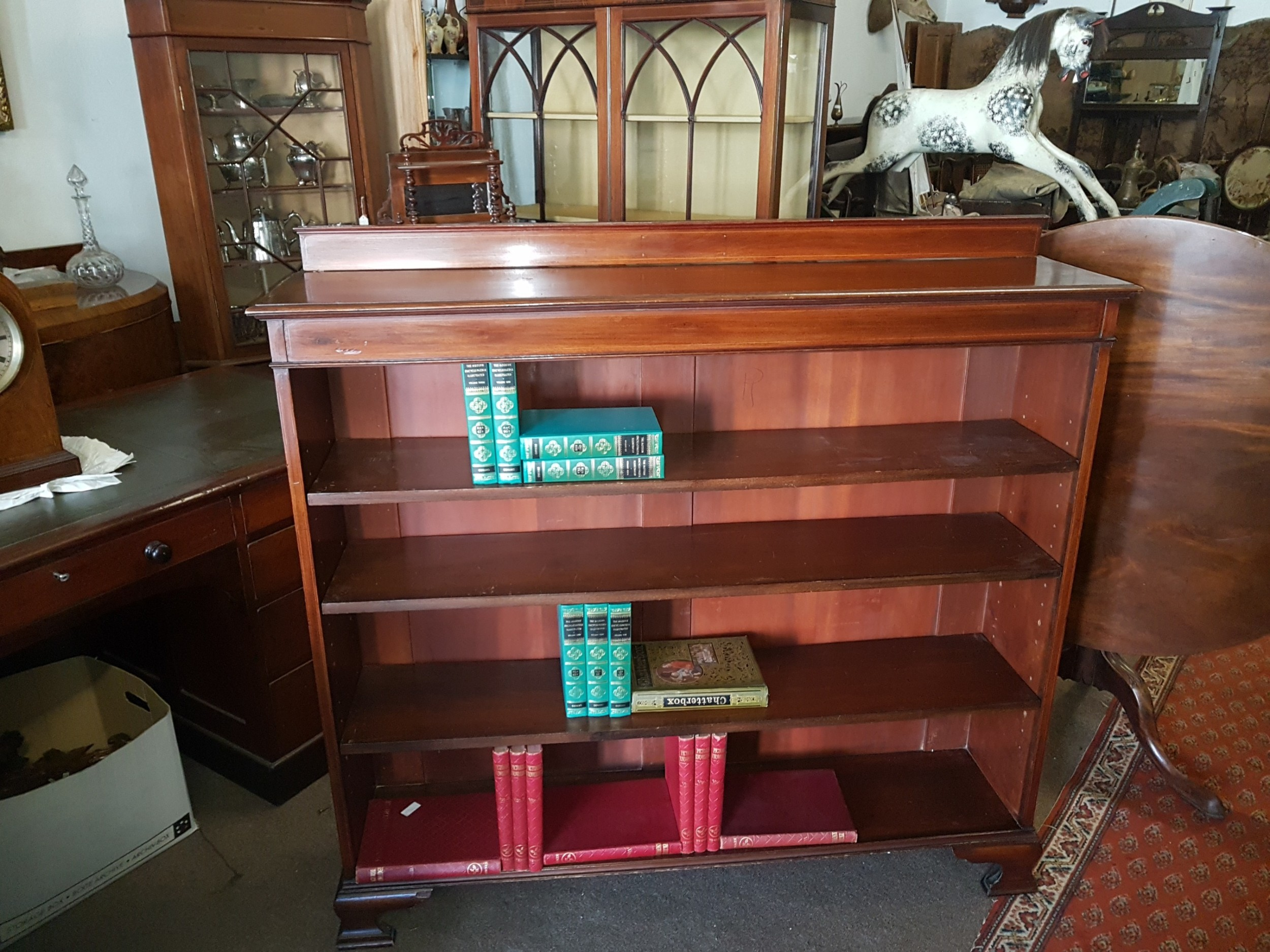 edwardian open bookcase