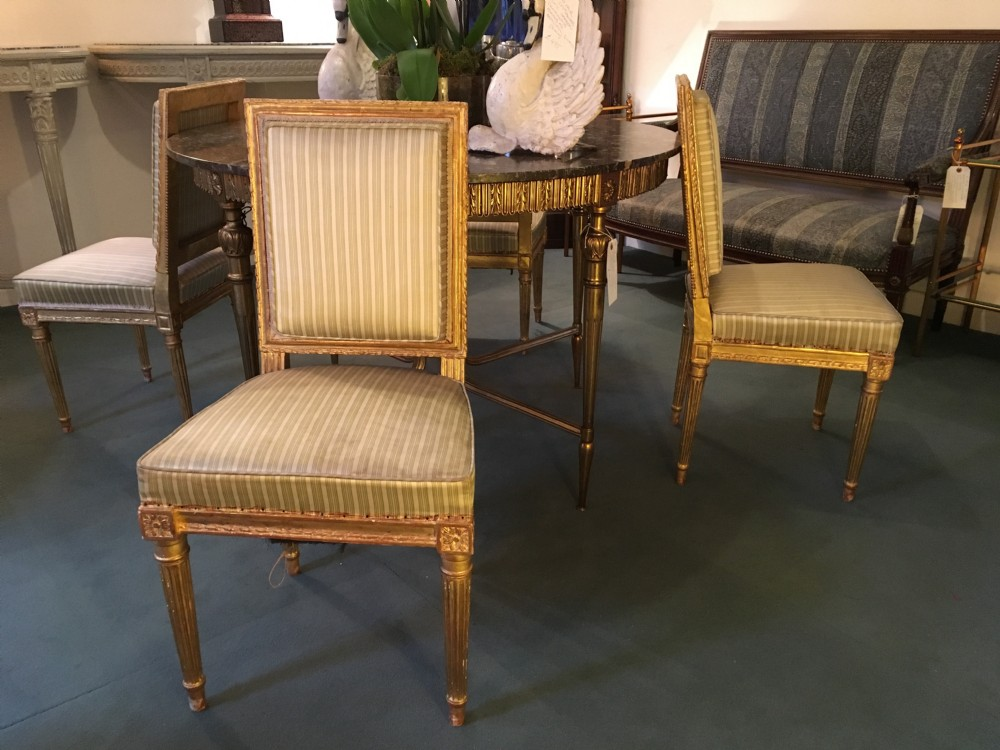 Four 19th Century French Giltwood Bedroom Chairs 401609 Sellingantiques C