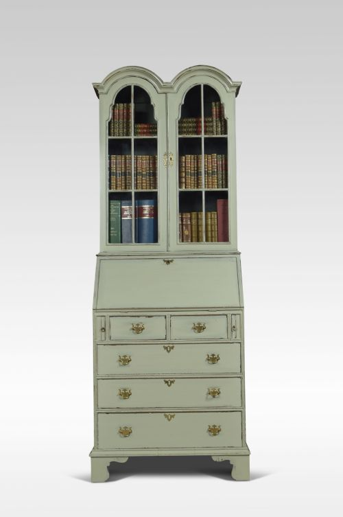 painted bureau bookcase of small proportions