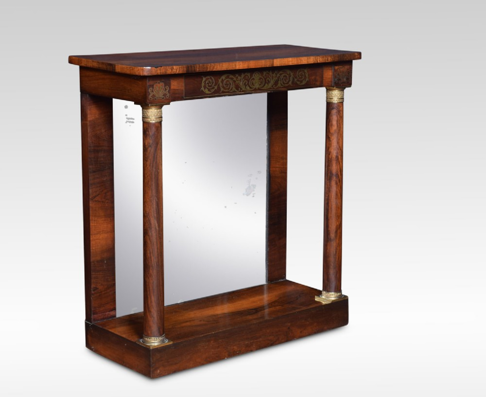 regency ormolumounted rosewood pier table