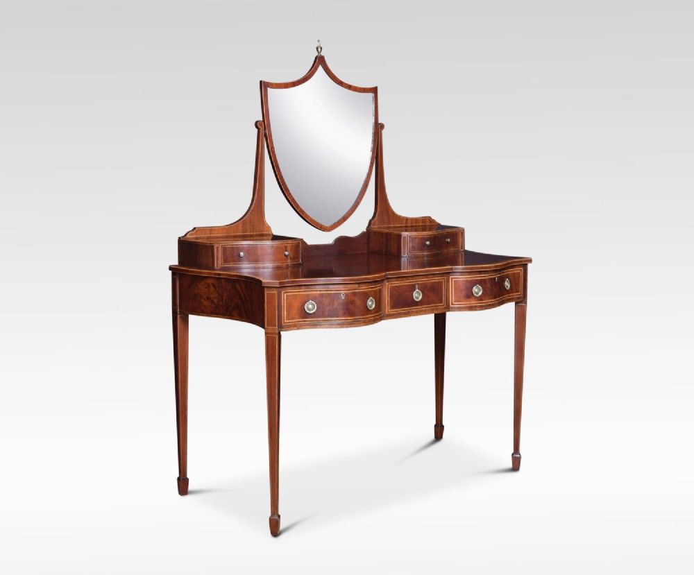 edwardian mahogany inlaid dressing table