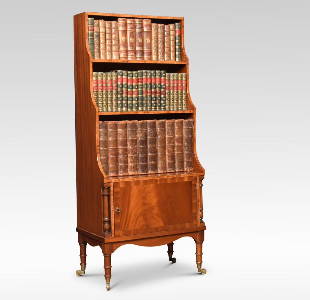 sheraton mahogany waterfall bookcase