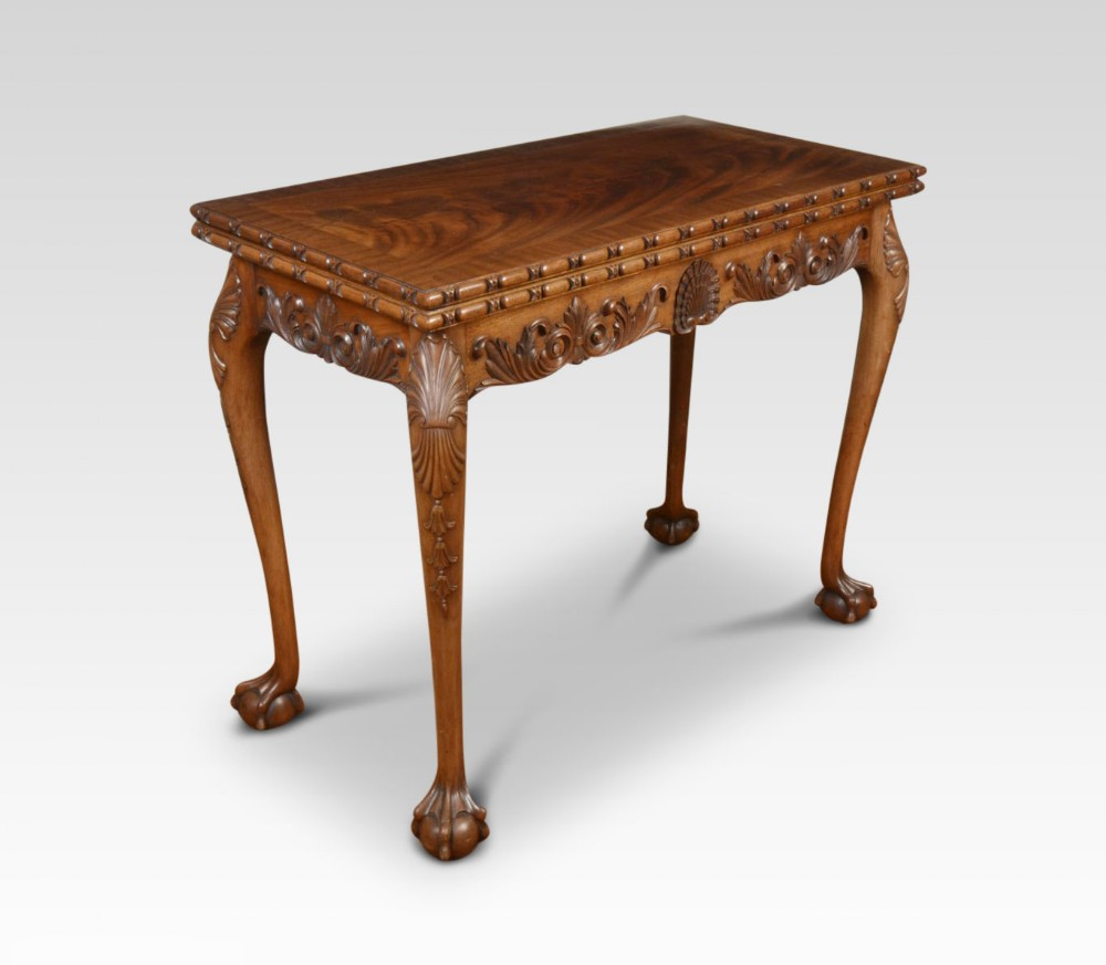 carved mahogany chippendale style card table