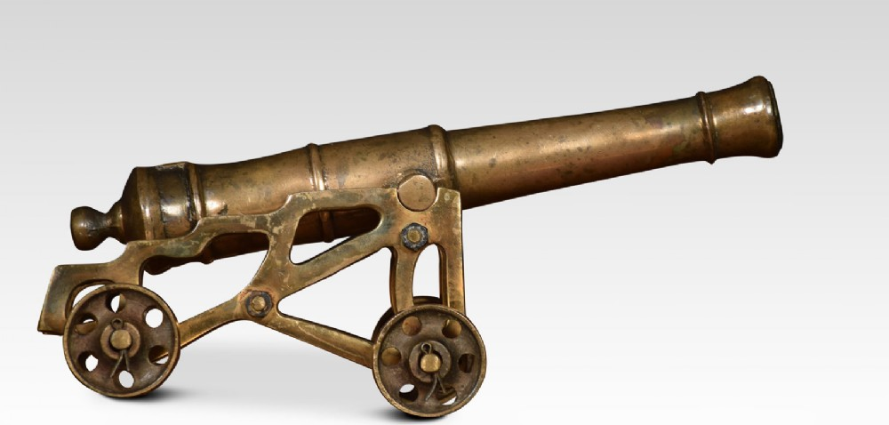 early 19th century cast brass desk cannon
