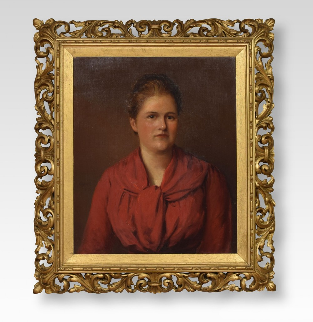 oil on canvas portrait of a lady