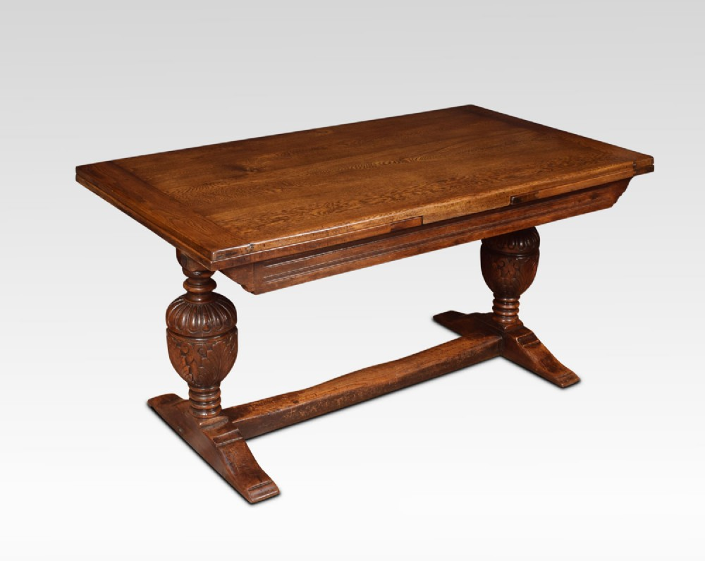 oak draw leaf refectory table