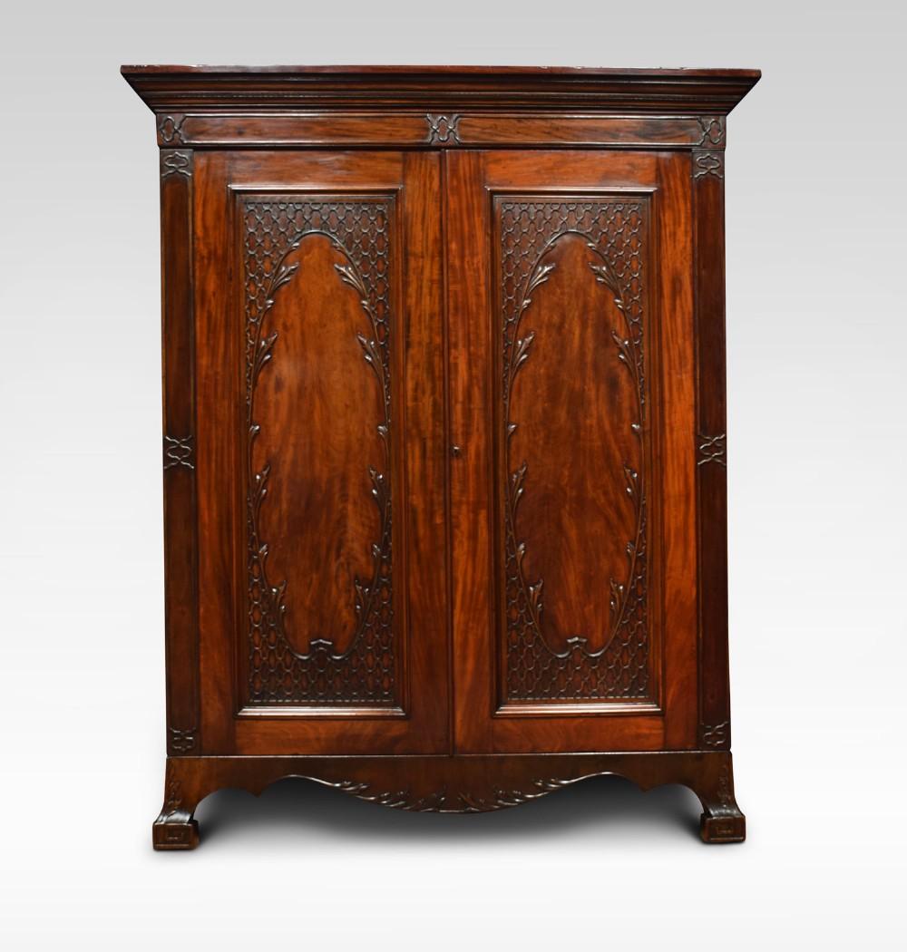 georgian revival mahogany two door wardrobe