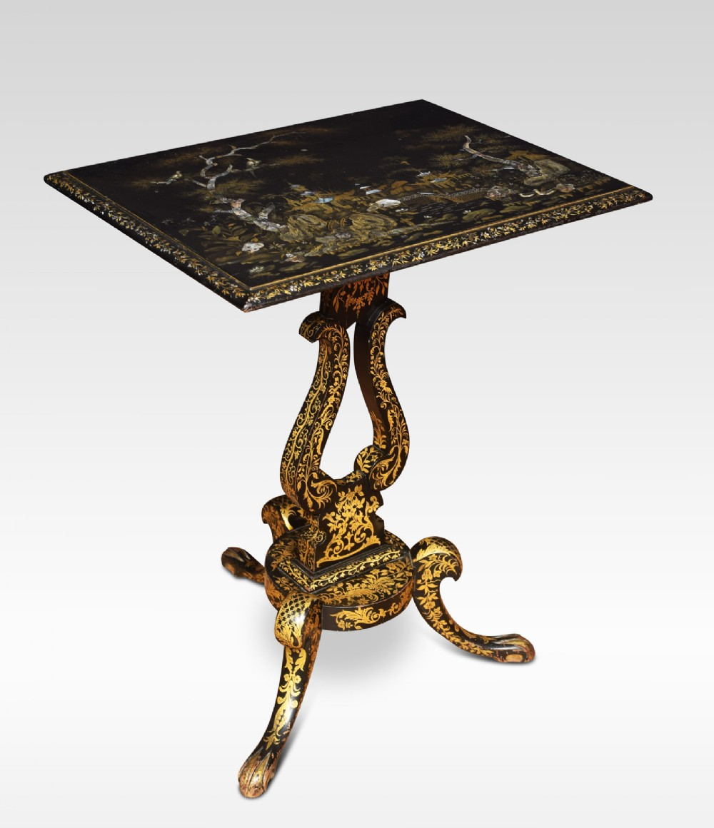 chinoiserie decorated occasional table