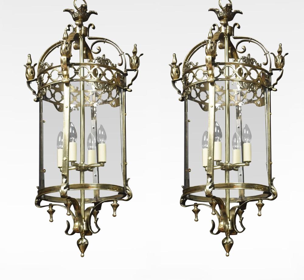 large pair of hall lanterns