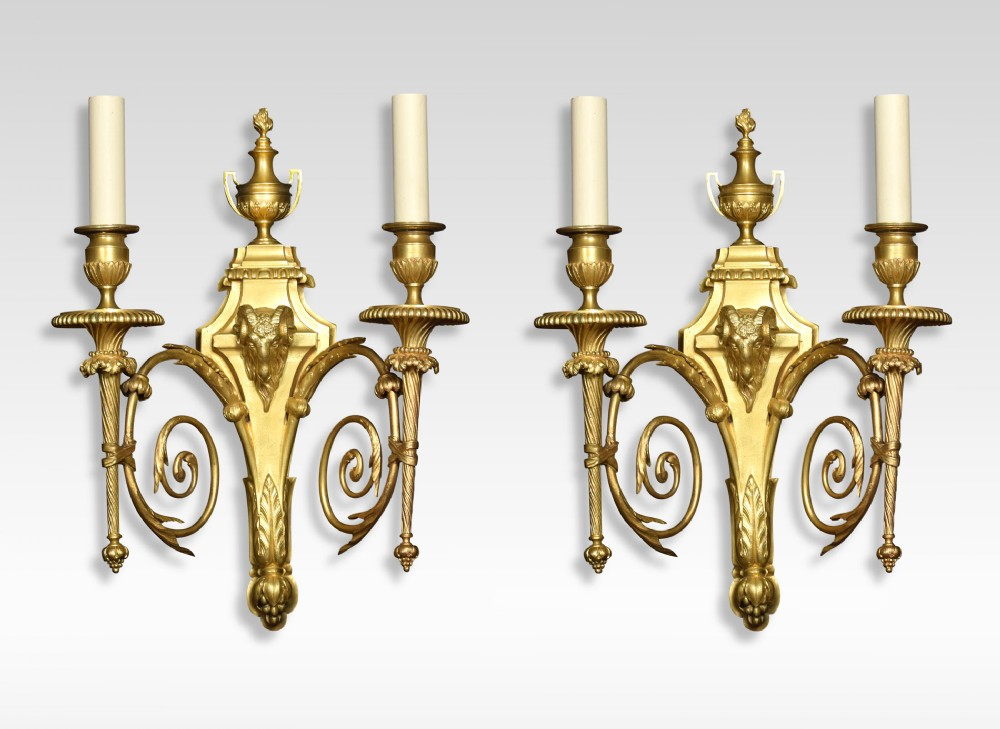 pair of 19th century french gilded bronze wall lights