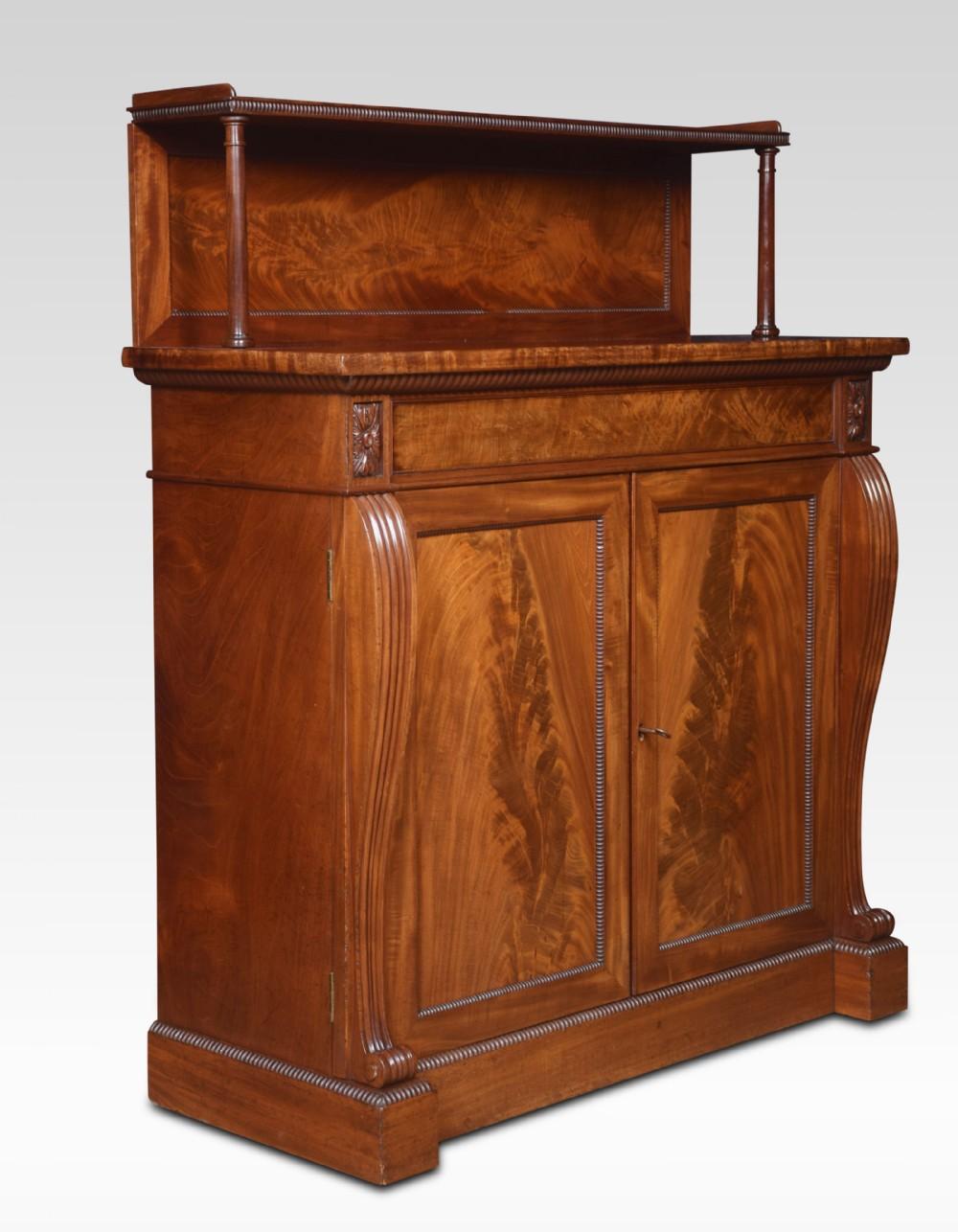 william iv mahogany two door chiffonier