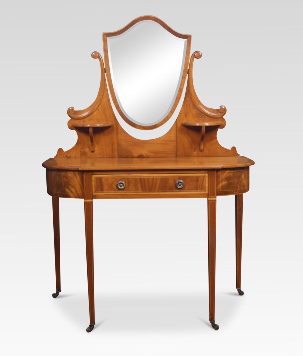 mahogany inlaid dressing table