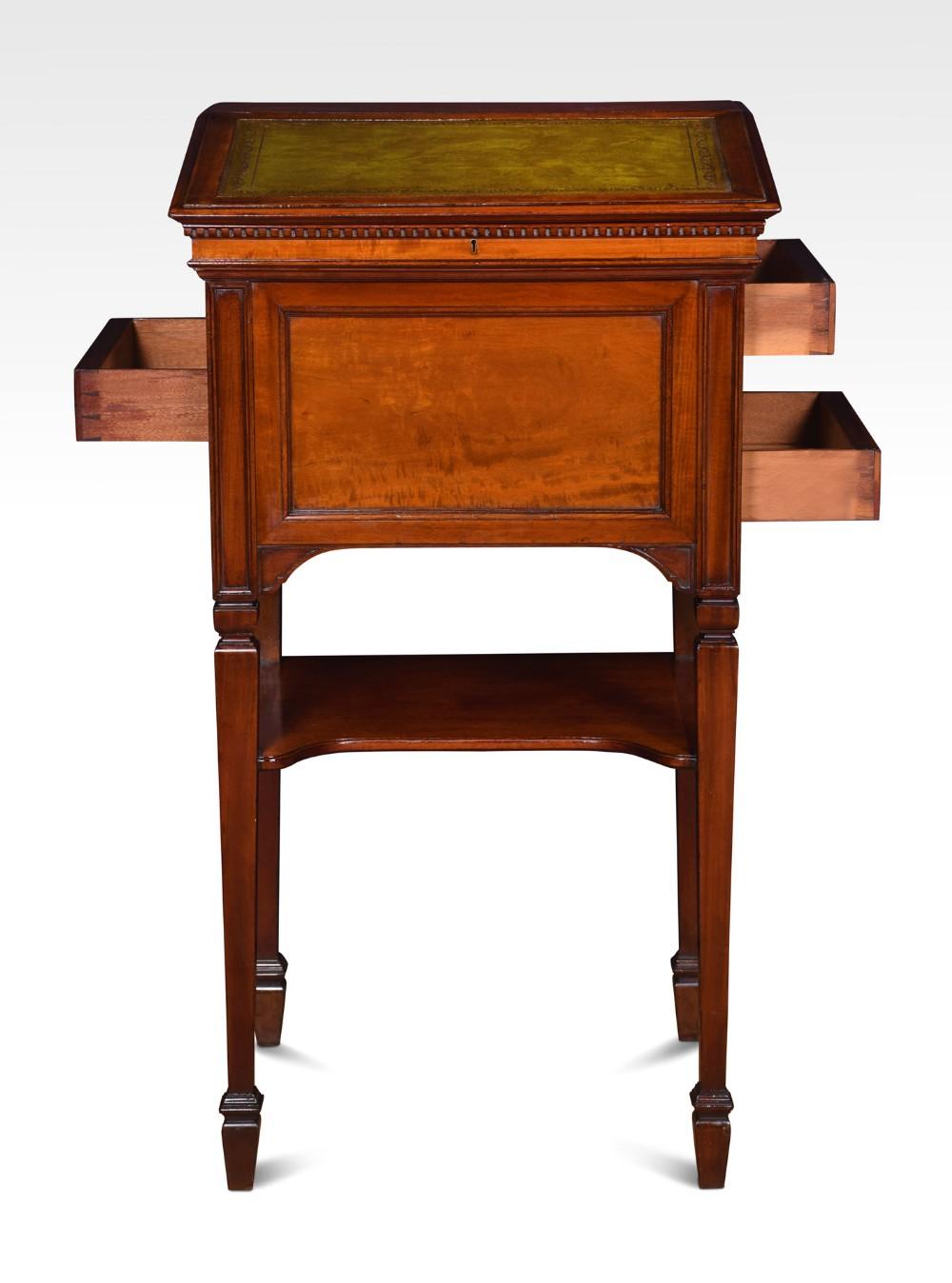 large walnut clerks desk