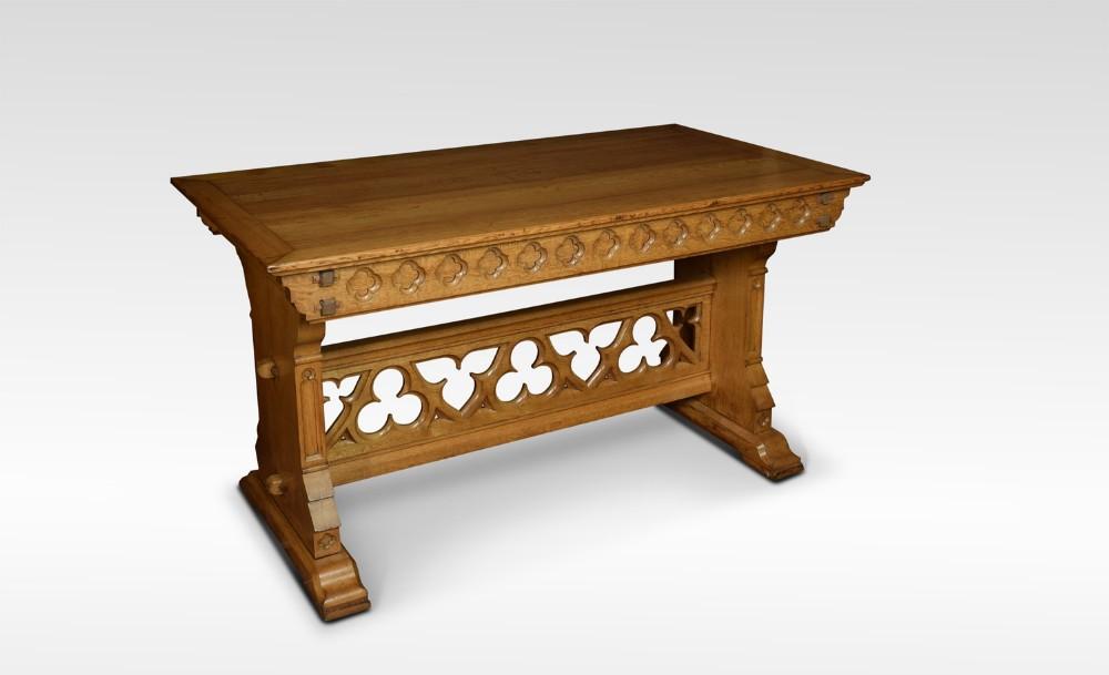 substantial gothic oak table
