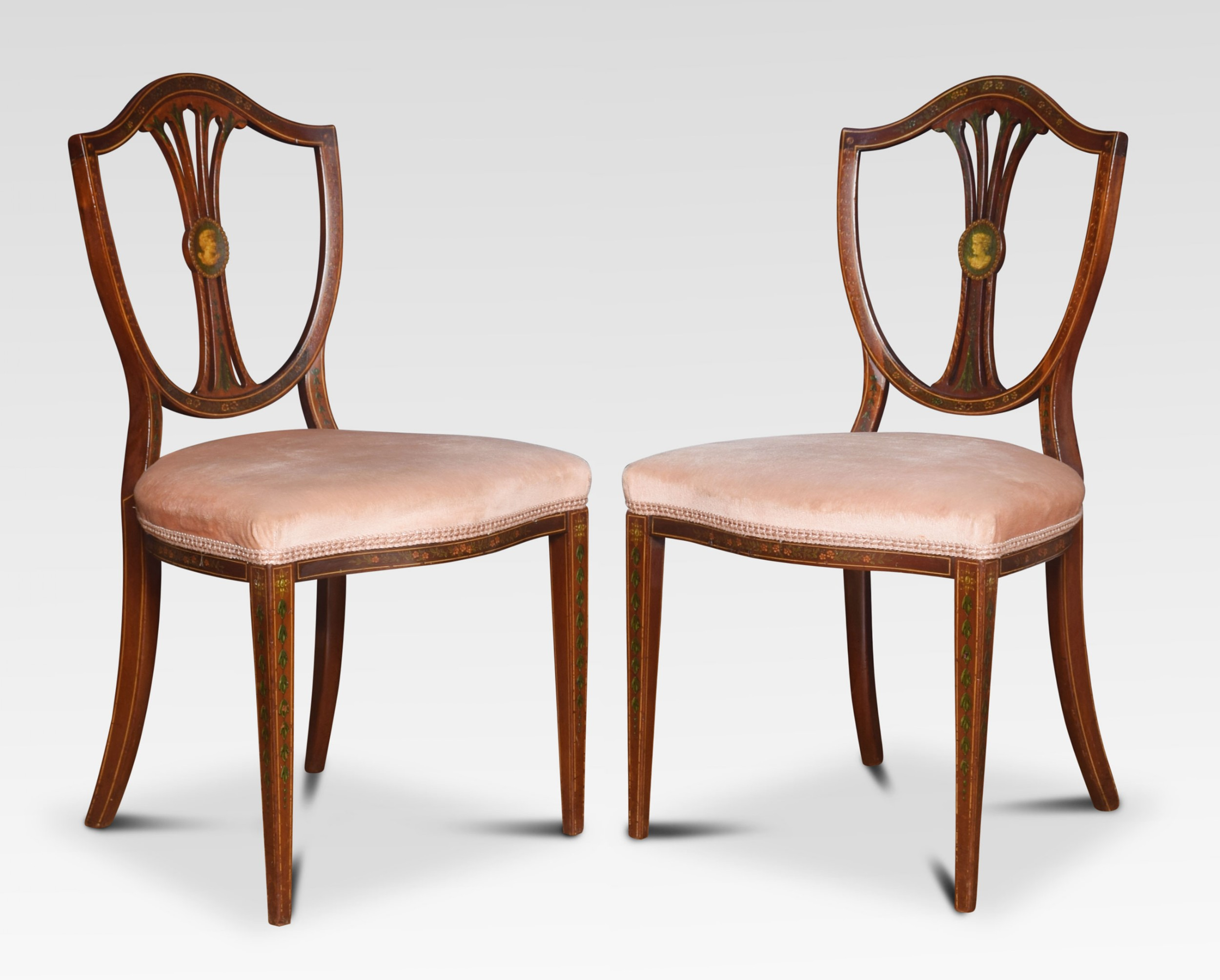 pair of 19th century side chairs by edwards and roberts