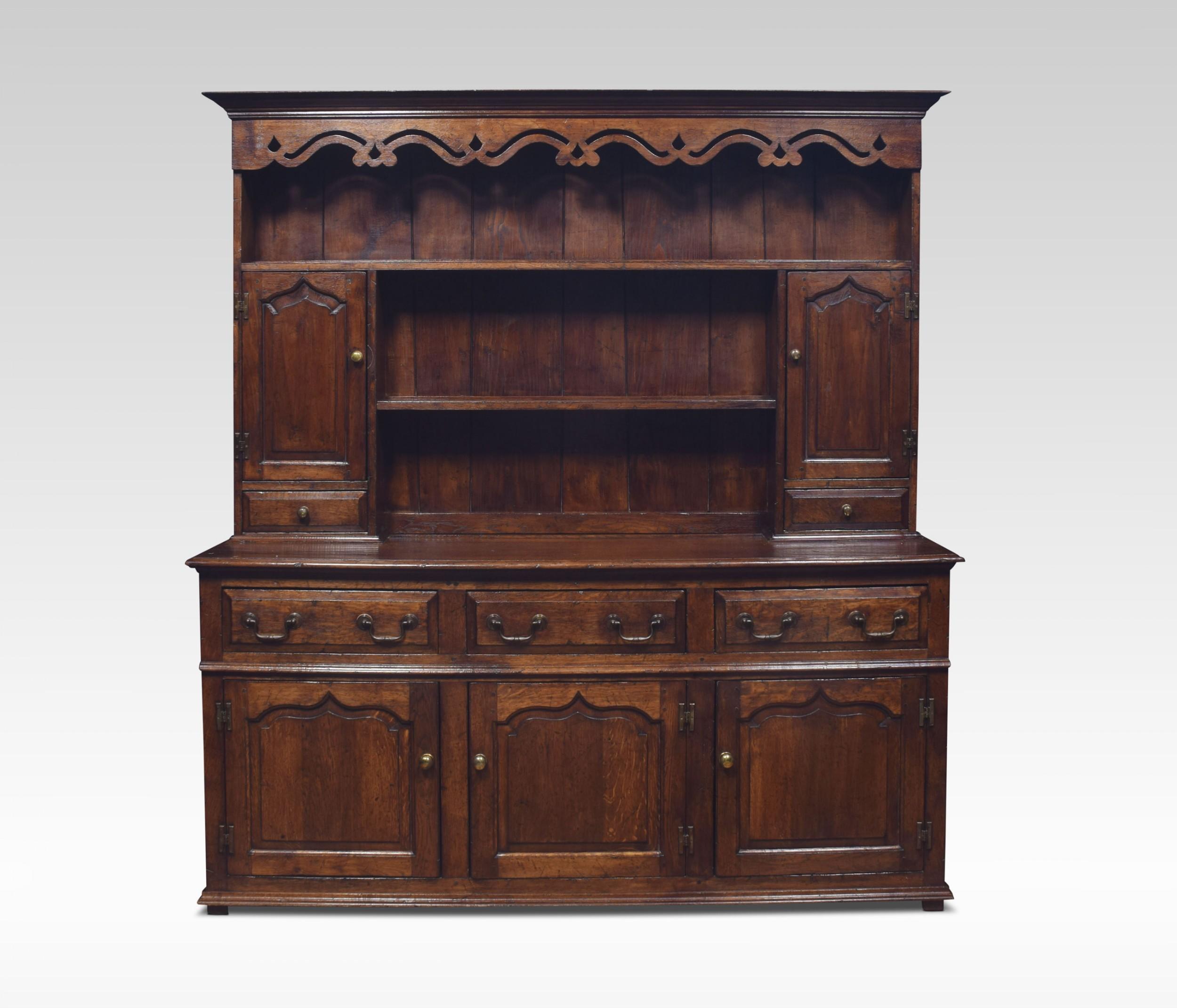 18th century style welsh canopy dresser