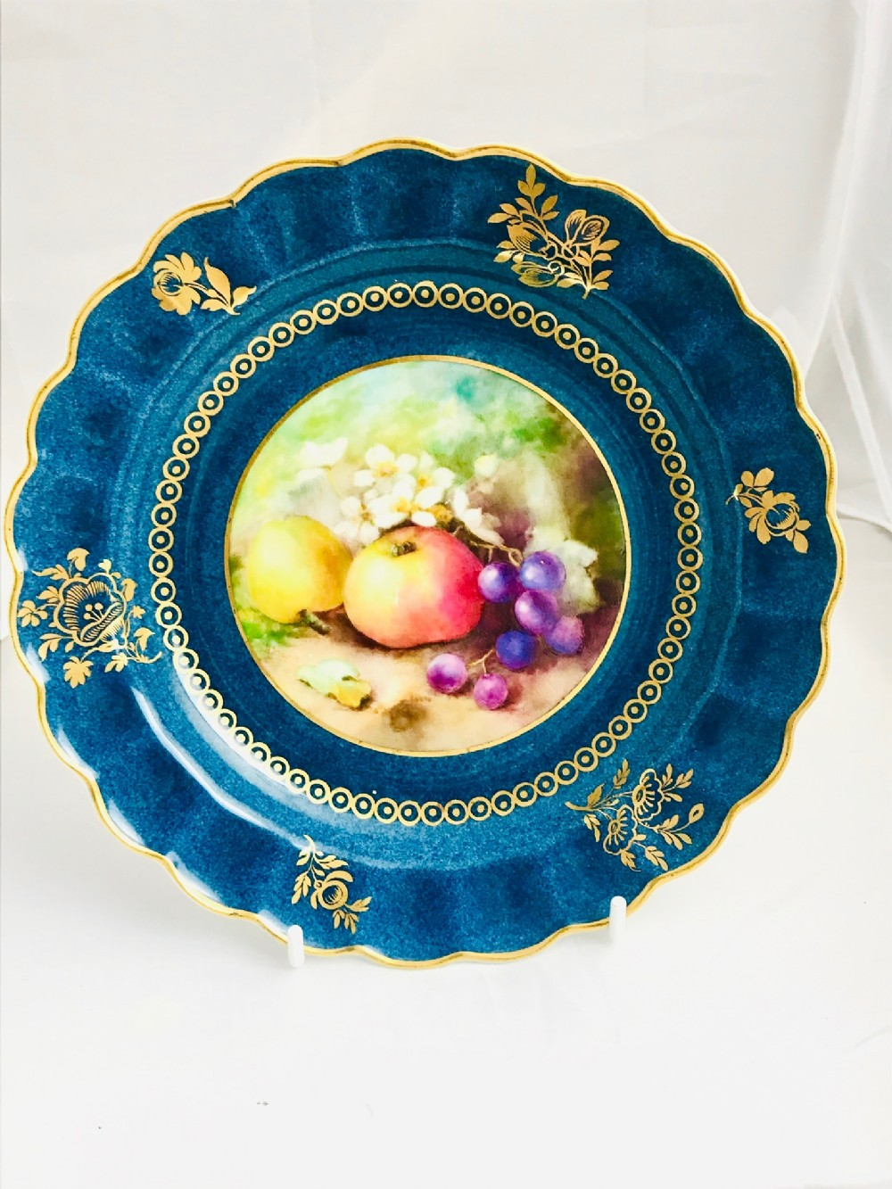 royal worcester display plate signed h martin dated 1922