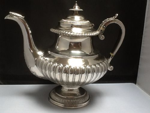 solid silver scottish tea coffee pot