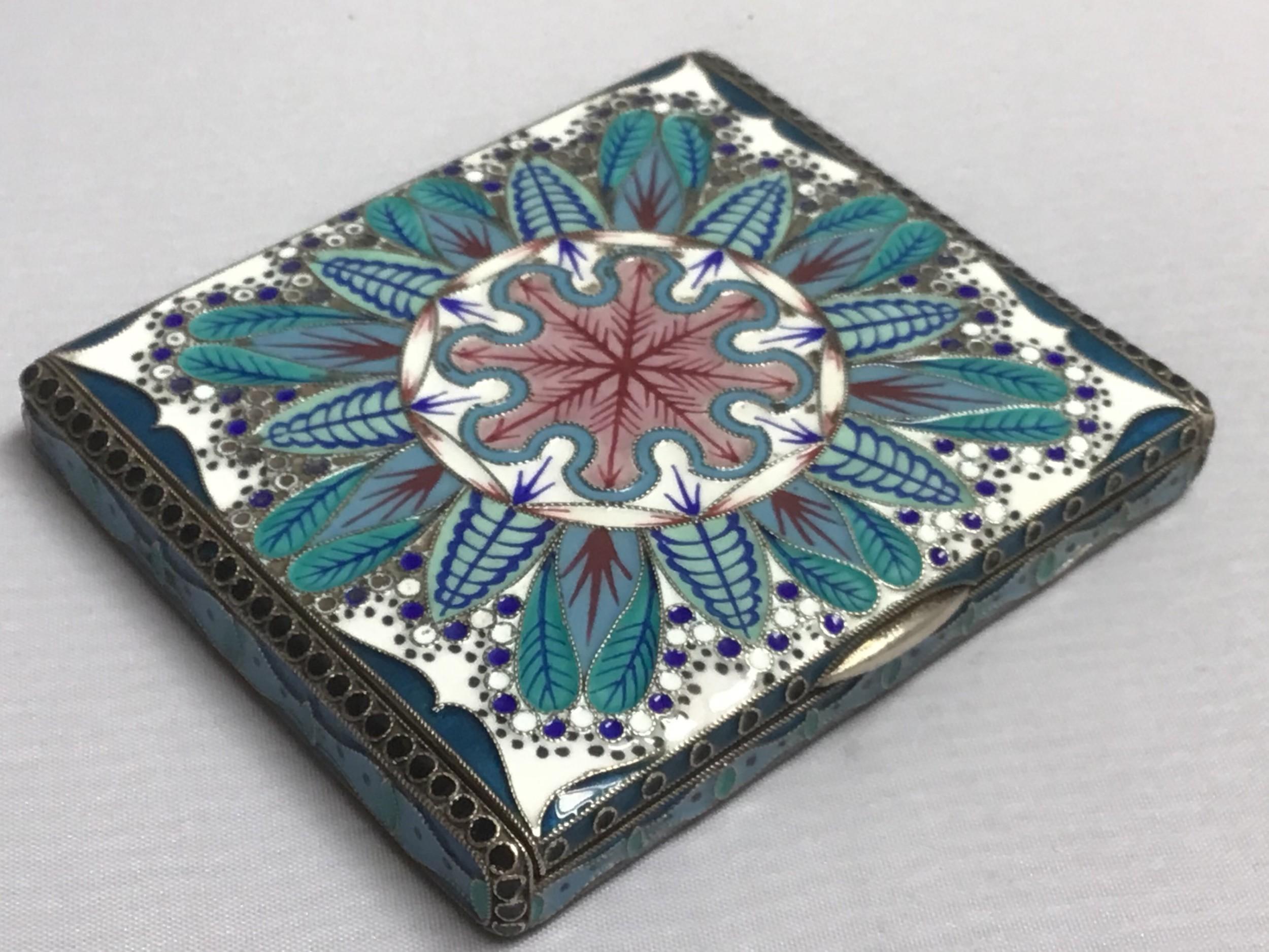 impressive russian silver and enamel box
