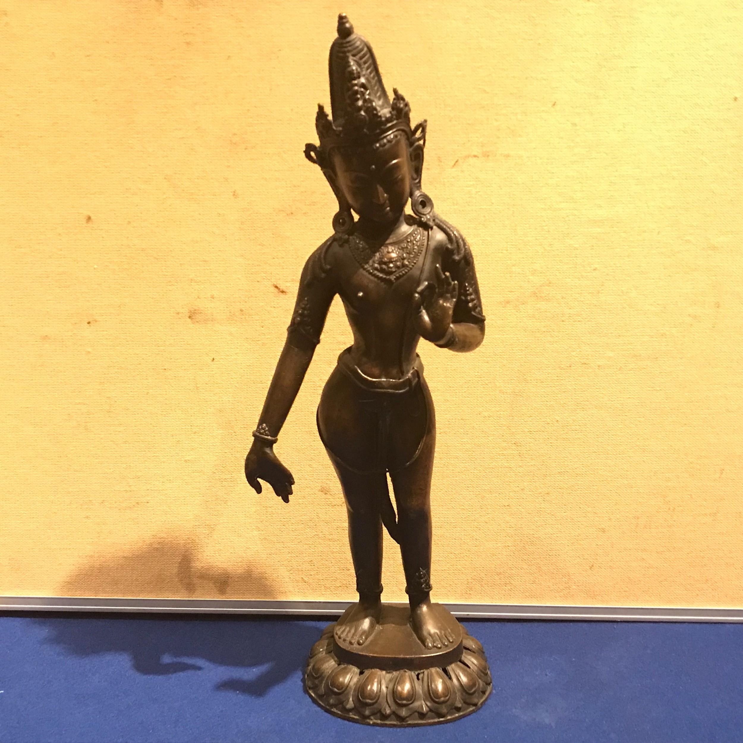 indian bronze deity figure 18th century
