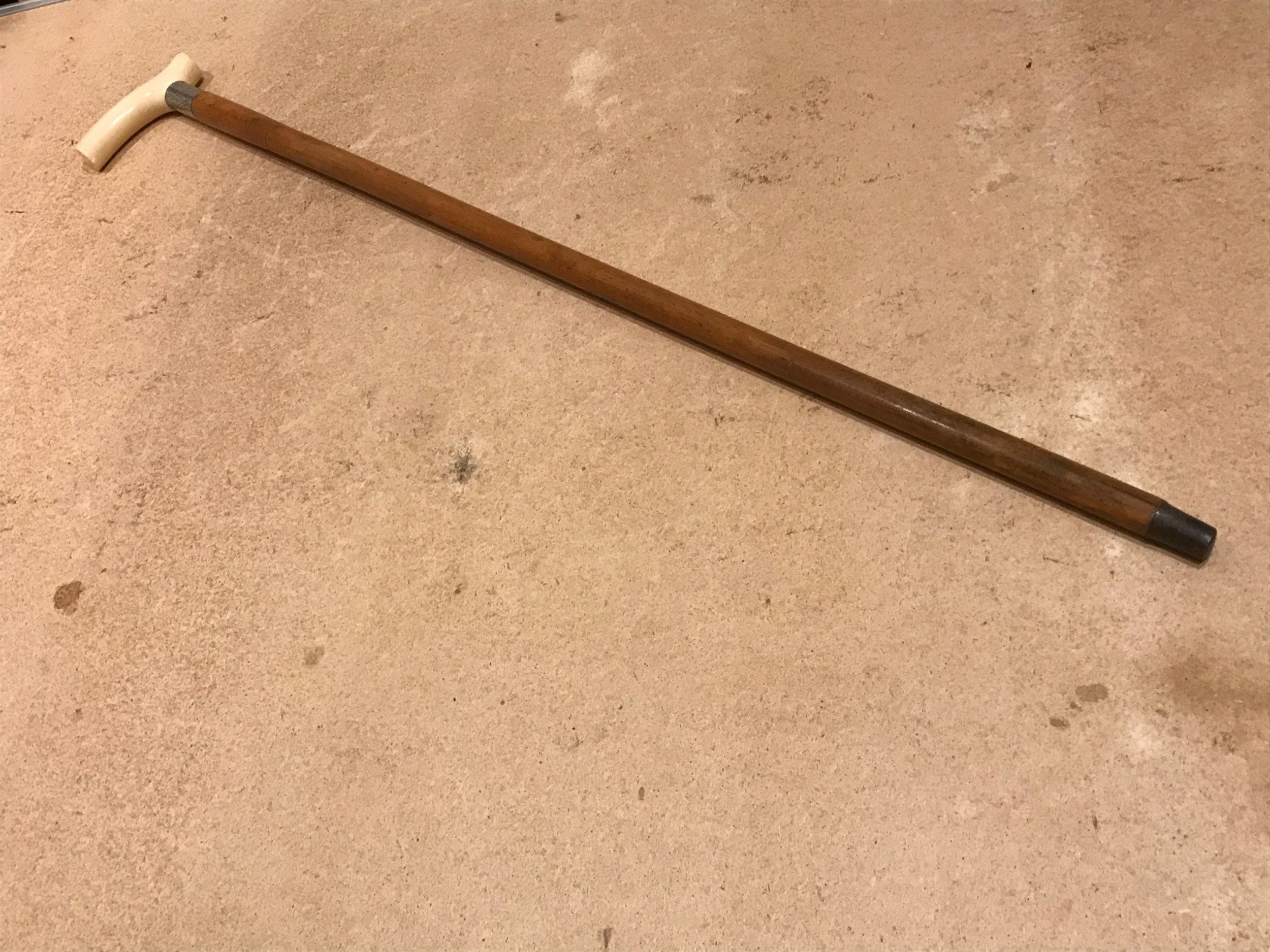 masonic circa 1888 gentlemans walking stick sword stick with ivory handle