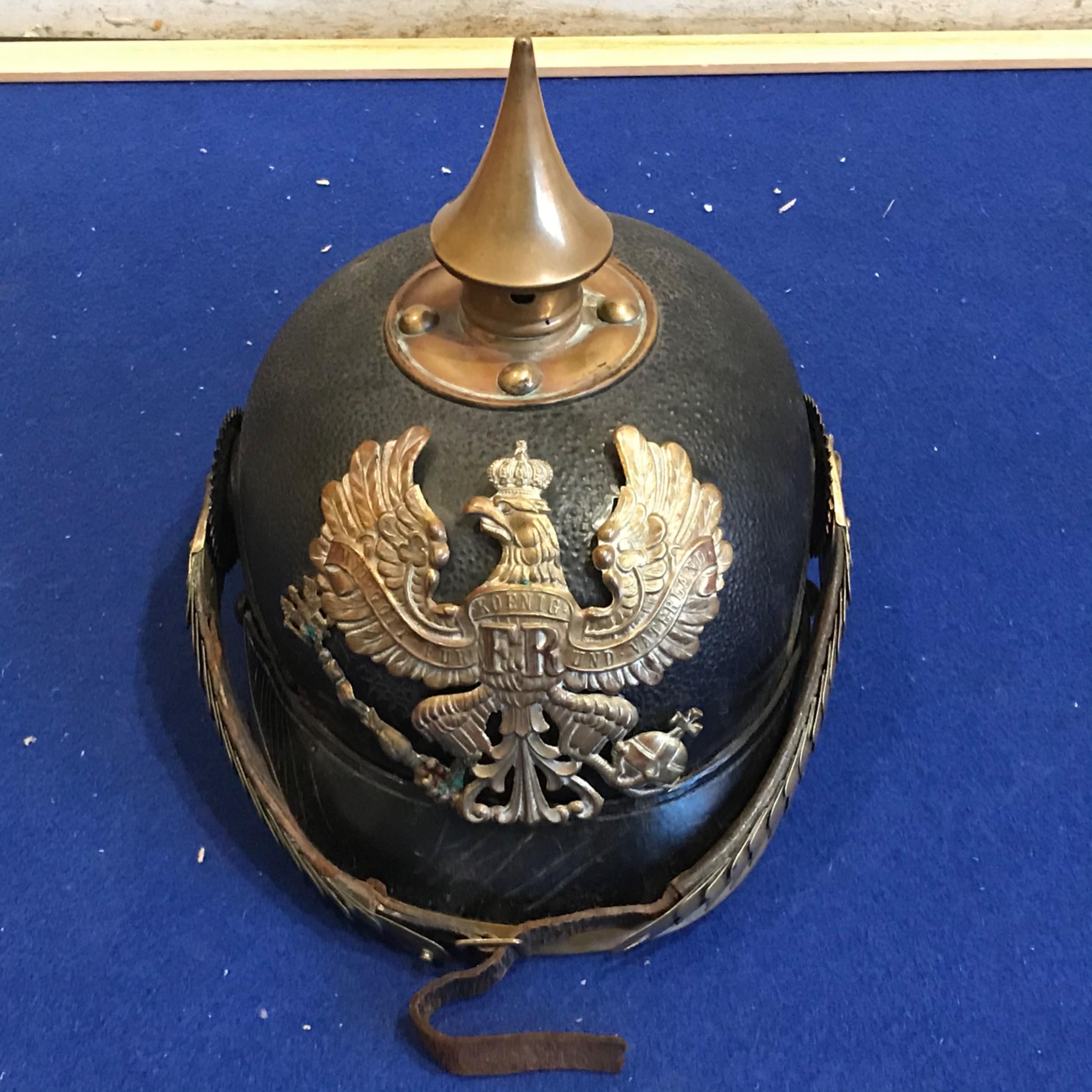 german 1ww picklehaube officers helmet