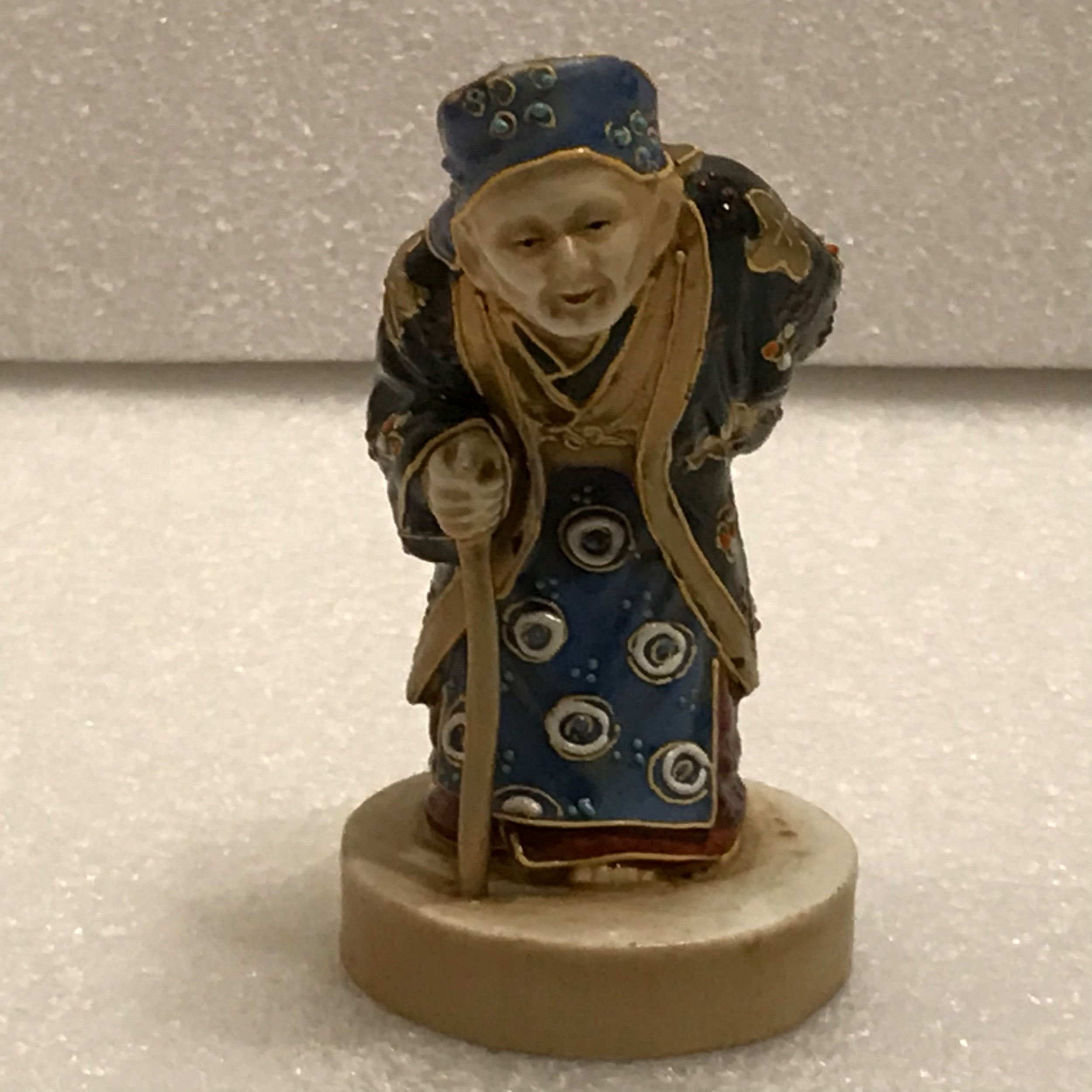 japanese porcelain figure of old wise man