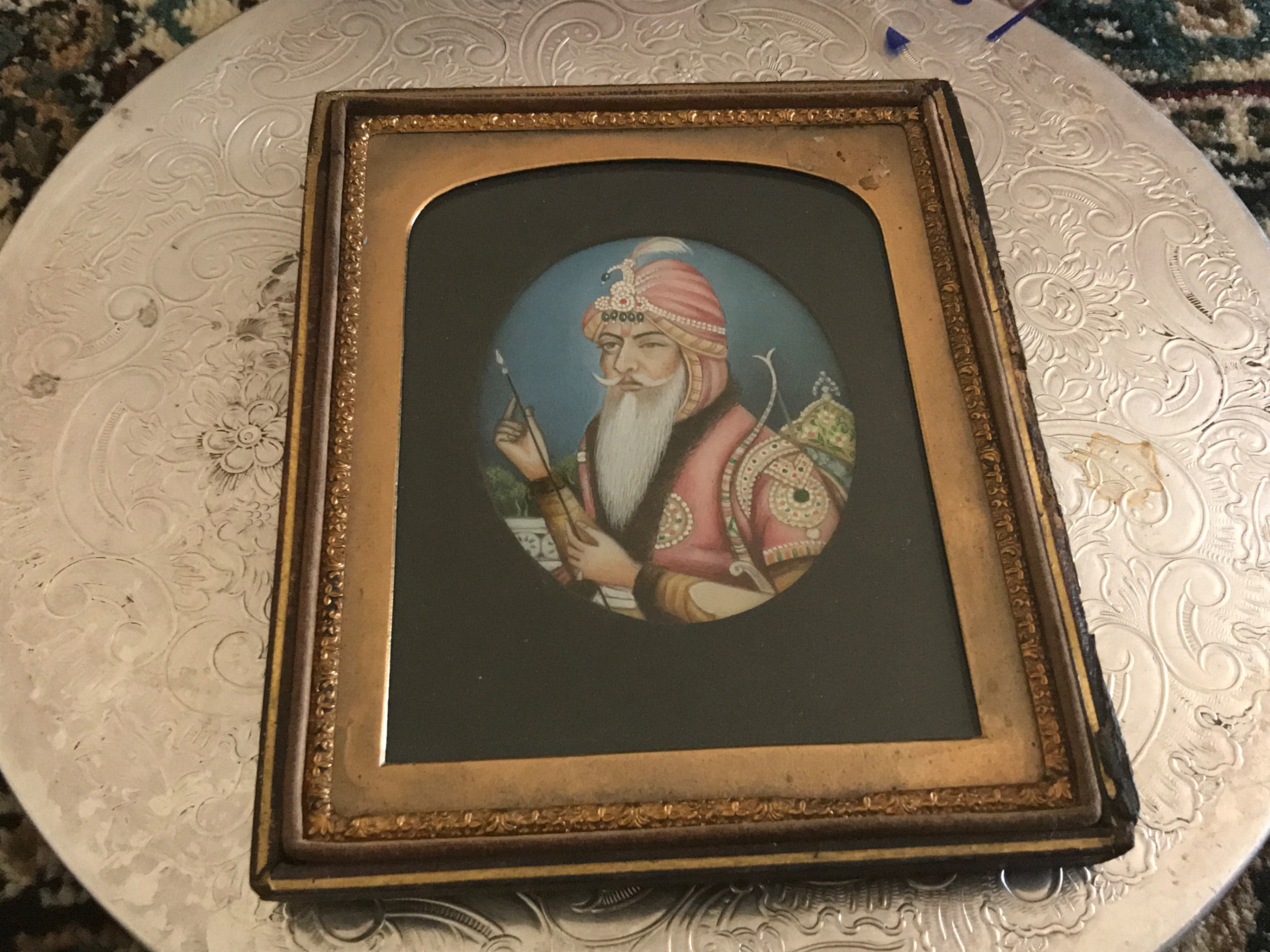 maharaja ranjeet singh miniature painting of this most famous man