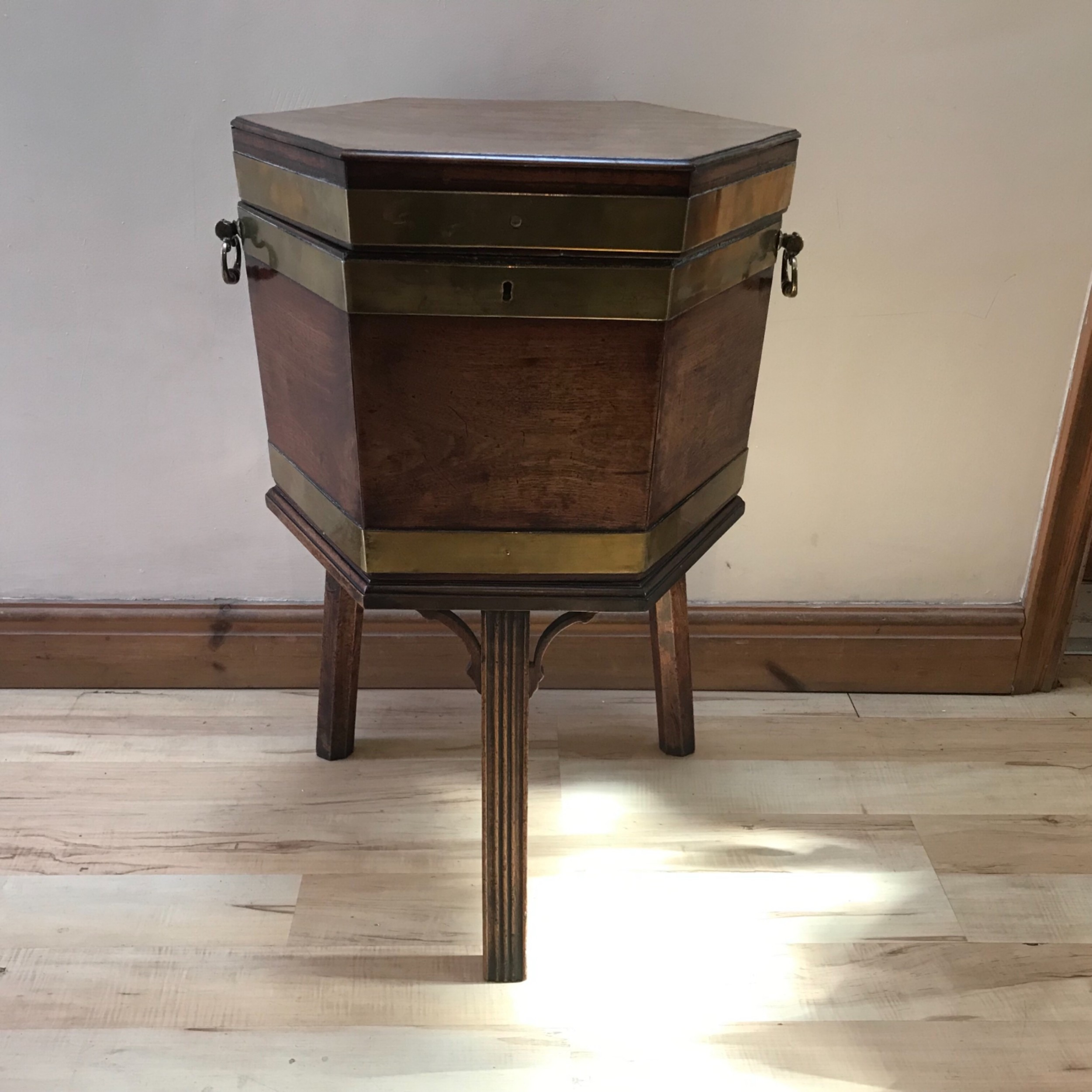 wine cooler mahogany all original complete with liner