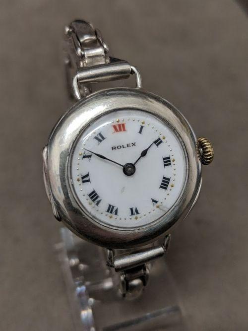 sterling silver antique rolex watch