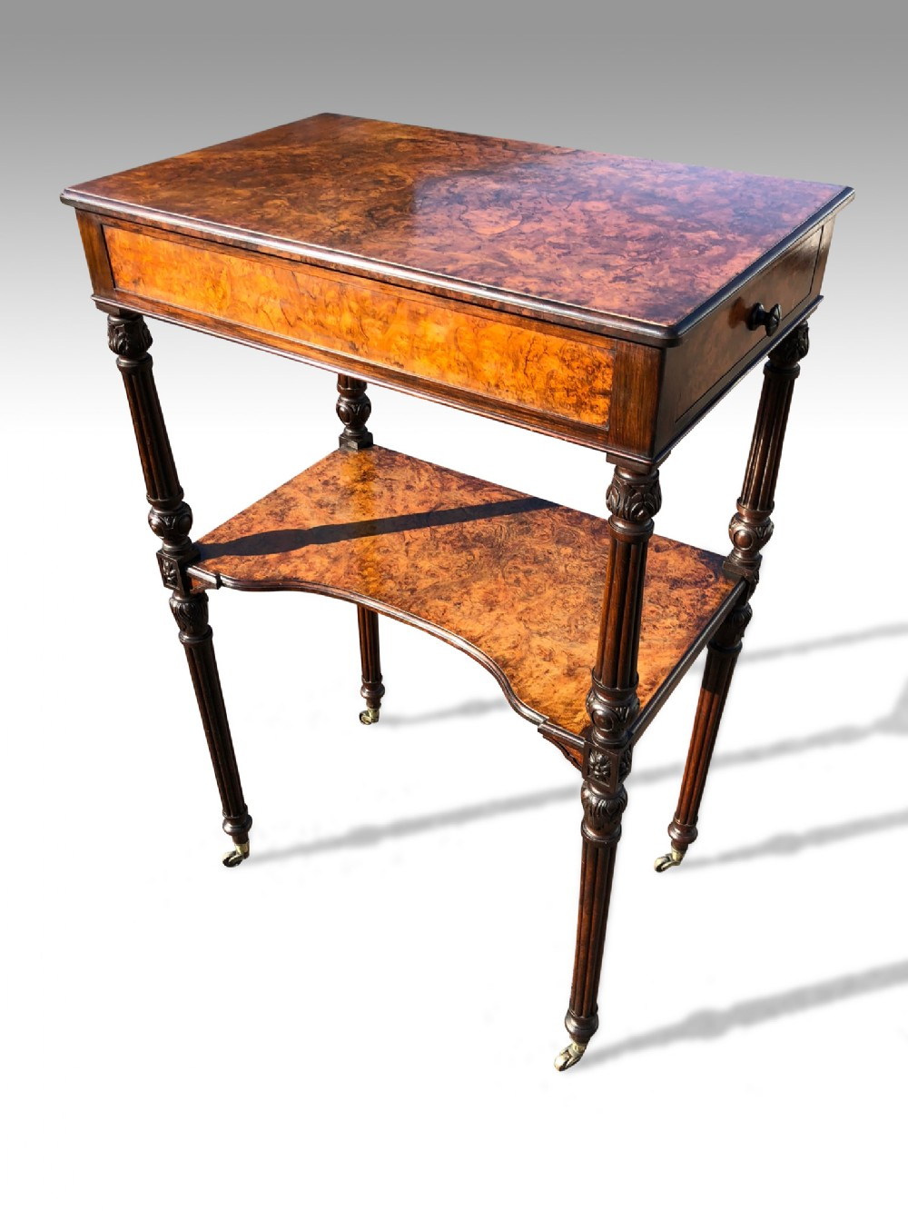 a wonderful mid 19th c walnut etegere of unusually grand proportions by holland sons