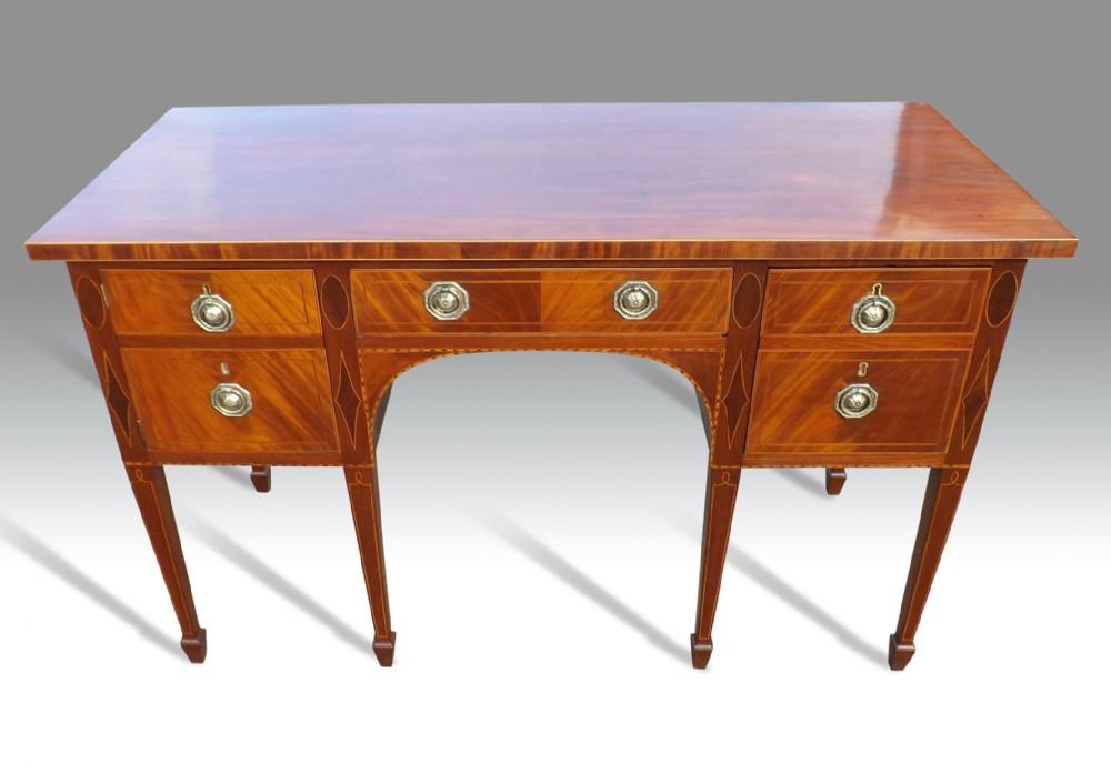 a fine george iii mahogany inlaid sideboard