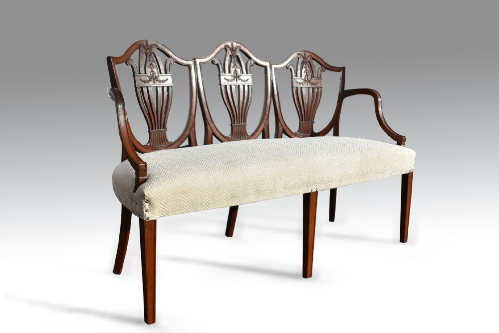an attractive tripple chair back hepplewhite settee