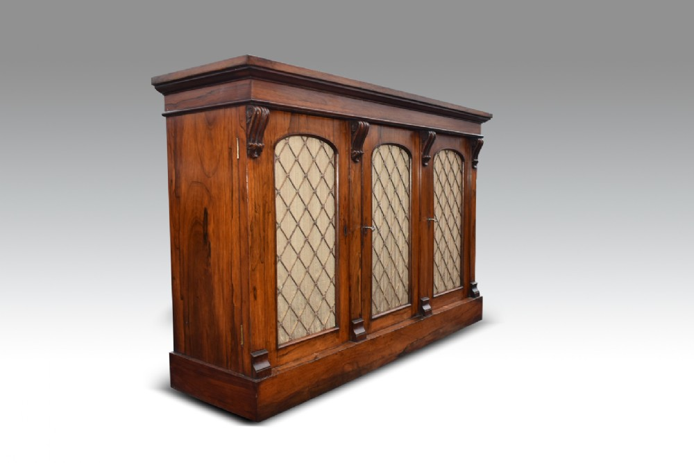 a compact william iv rosewood side cabinet