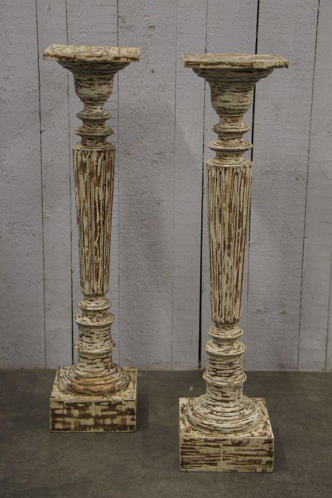pair french lxvi original painted columns