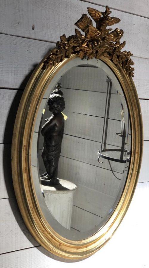 french gilt wall mirror