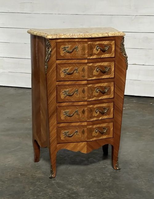 quality french marquetry chest of drawers