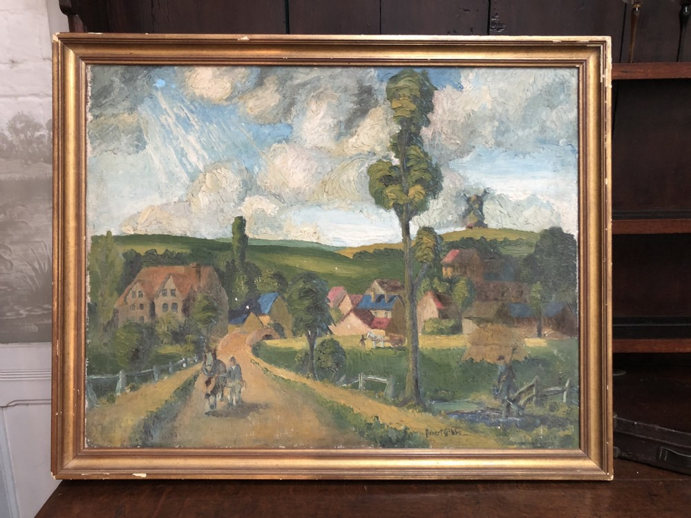 english impressionist oil painting signed