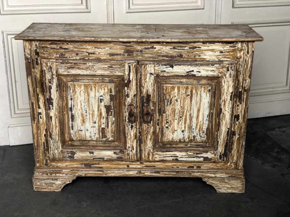 french original scraped paint cabinet
