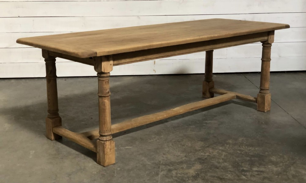 bleached oak farmhouse table with extensions