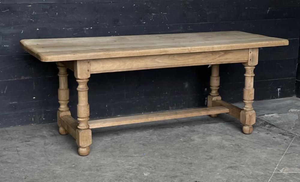 french bleached oak farmhouse kitchen table