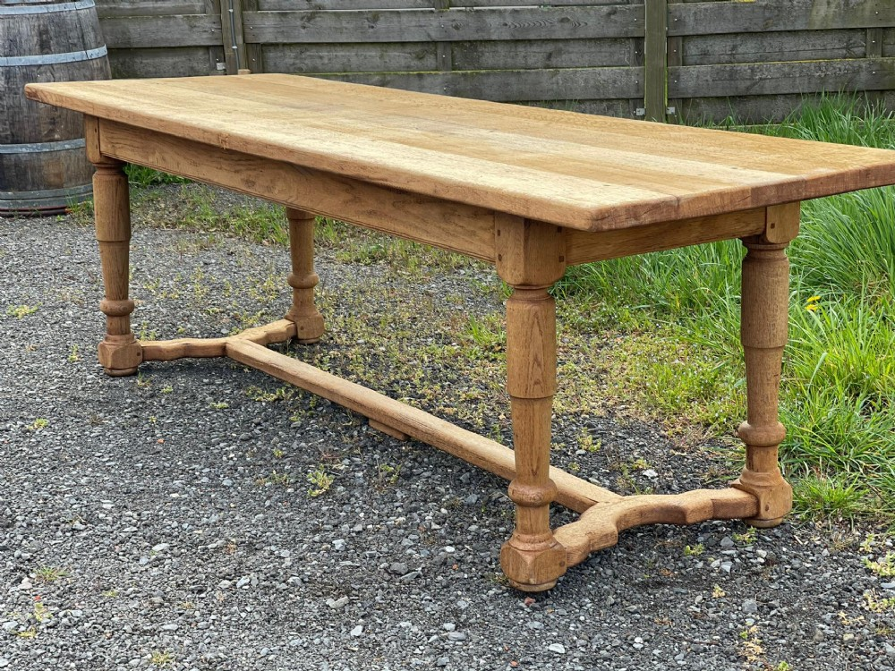 large french bleached oak farmhouse table