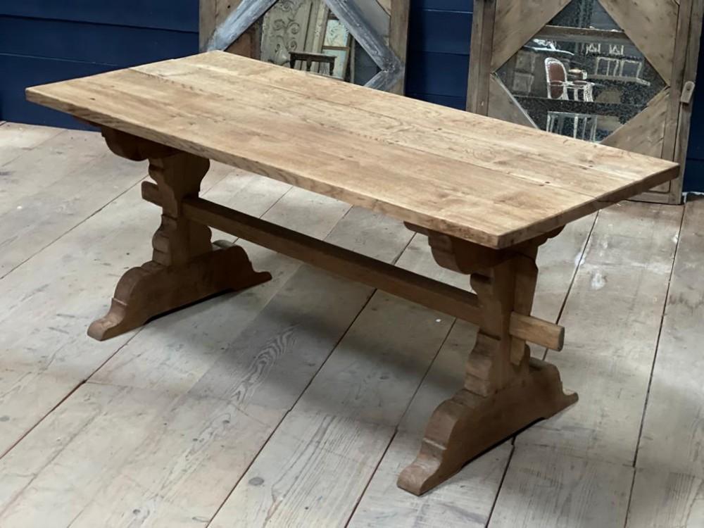 smaller bleached oak farmhouse kitchen table