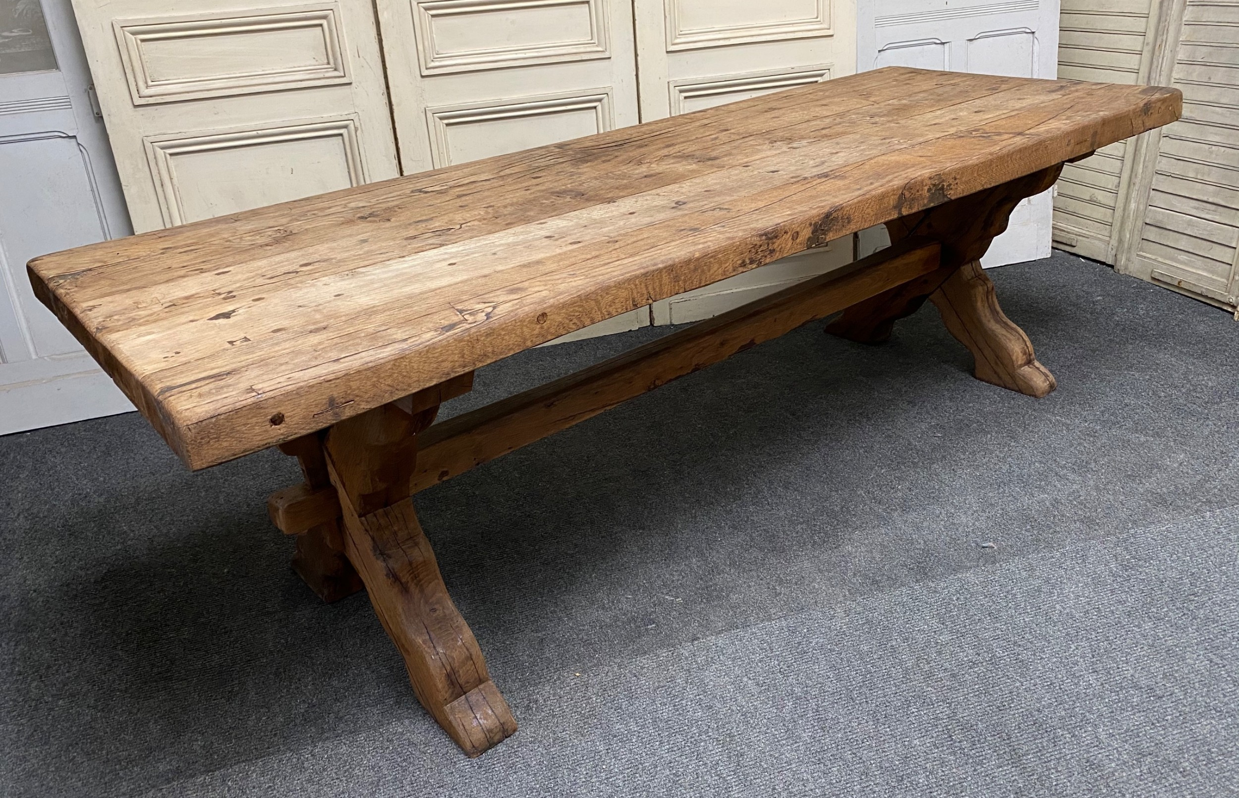 Picture of: Huge Rustic Farmhouse Dining Table 714386 Sellingantiques Co Uk