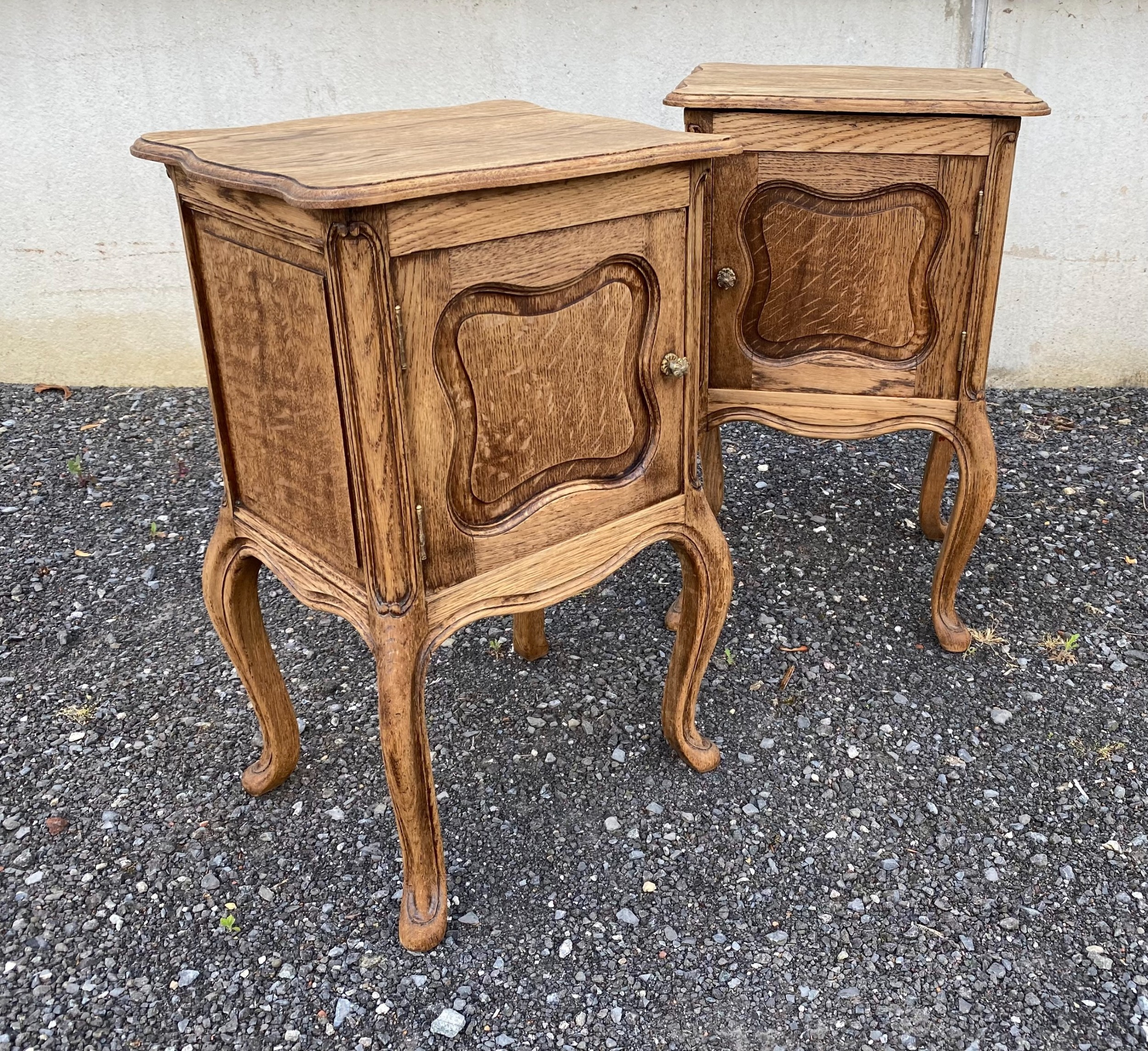 pair french bedside cupboards