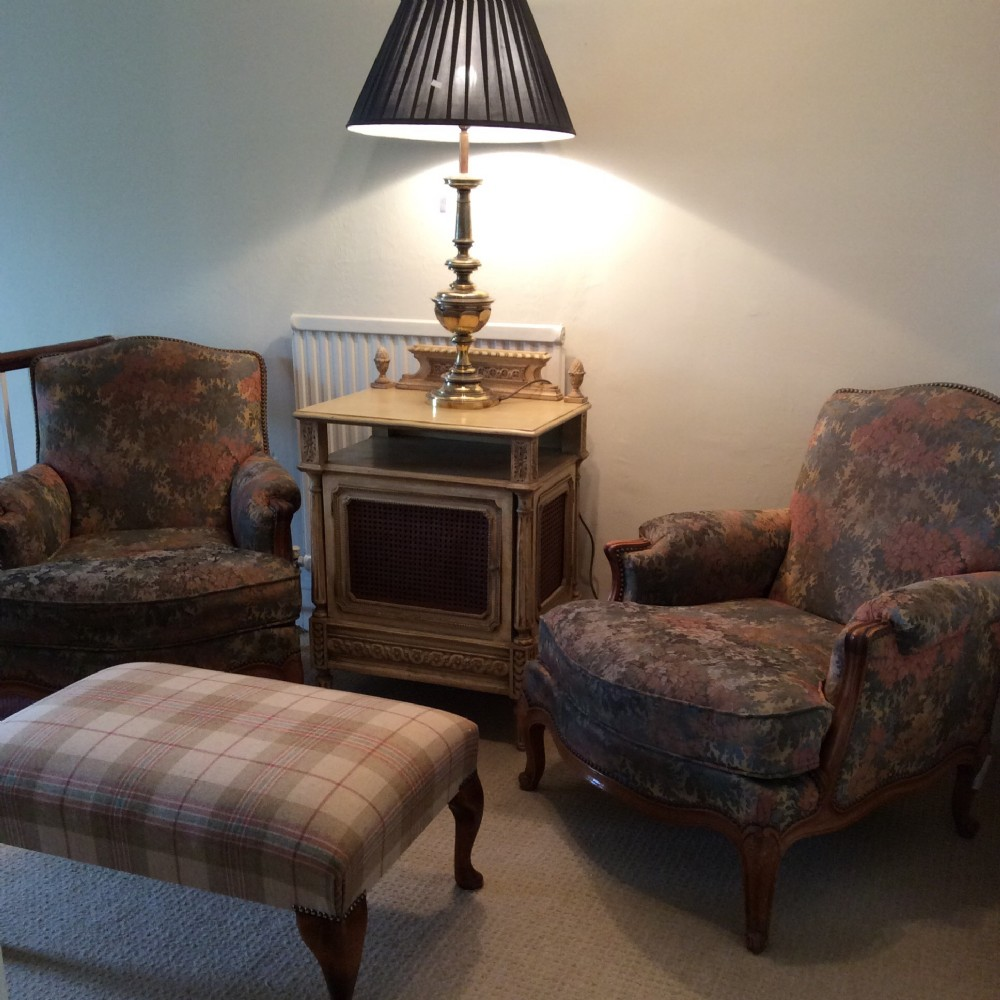 Large Pair Of French Louis Xv Style Deep Armchairs ...