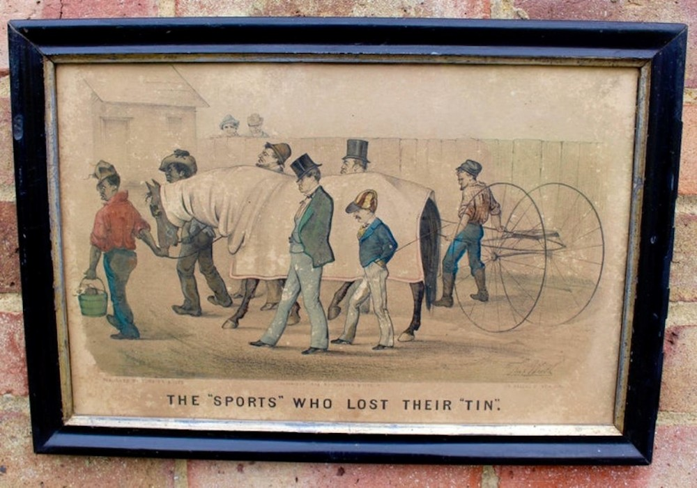 trotting or harness racing lithographs