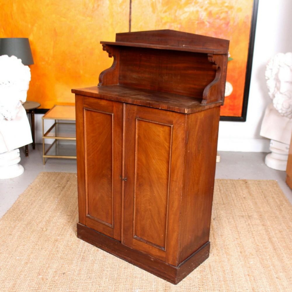 petite chiffonier cabinet mahogany 19th century