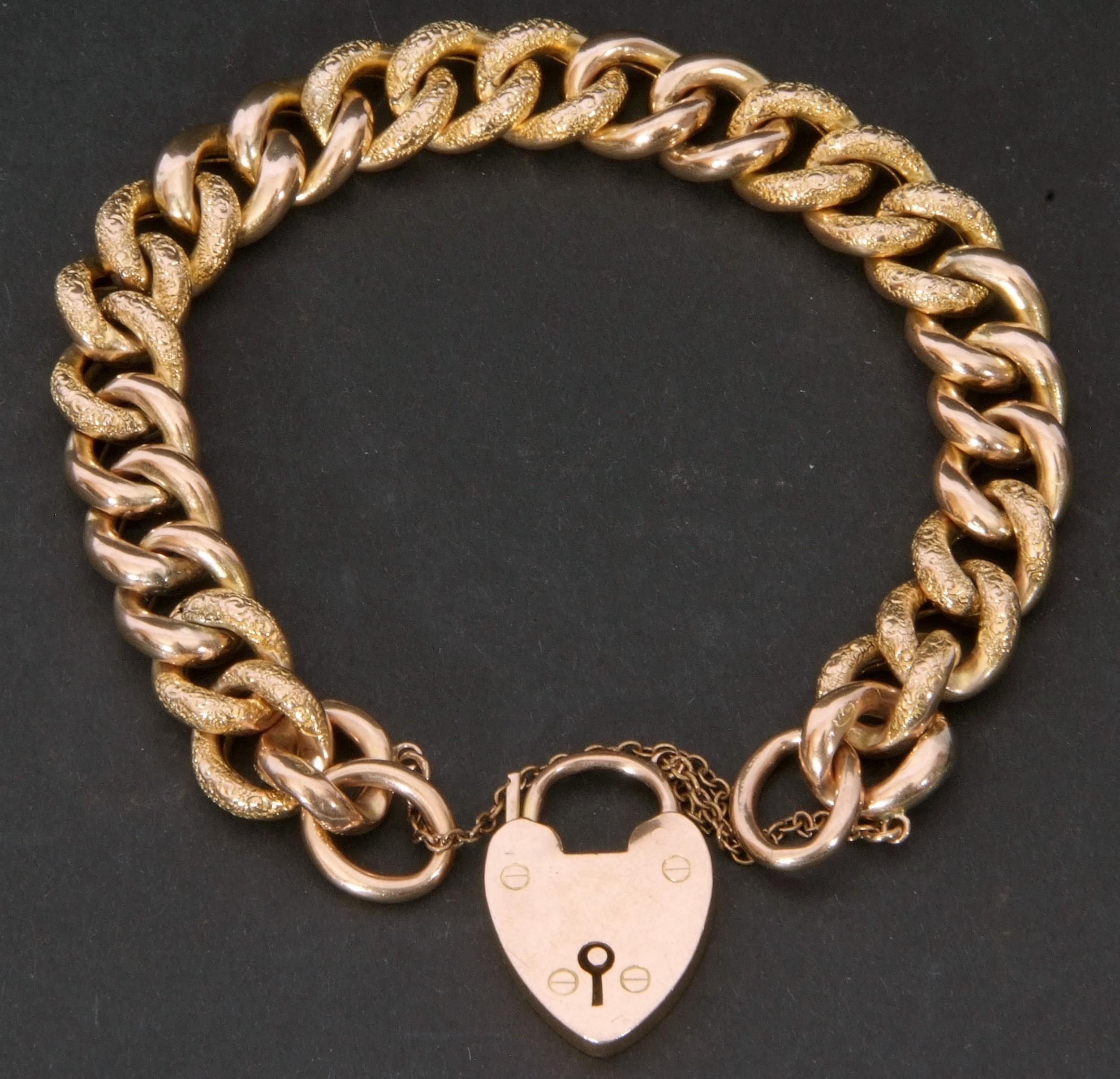 edwardian 9ct curb link bracelet